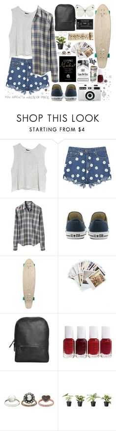 """Let's remove the space between me and you"" by hengstler2013 ❤ liked on Polyvore featuring MINKPINK, Steven Alan, Converse, Quiksilver, Chronicle Books, LACAMBRA, Essie, ASOS and Henri Bendel"