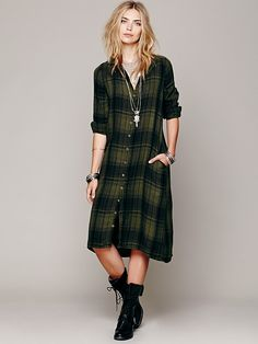 4c75ac8c78 Free People Plaid Maxi in Green (Pine)