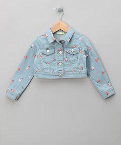 Blue Cherry Print Jacket - Infant, Toddler & Girls by Dudu Girls on #zulilyUK today!