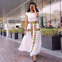 Modern Ethiopian Dress - Ethiopian Traditional Dress - - High Quality Hand Woven Ethiopian Traditional ClothItem Available on Order. Order now your Modern Ethiopian traditional dress. African Dresses For Women, African Print Dresses, African Wear, African Fashion Dresses, African Attire, Dress Fashion, Fashion Outfits, Ethiopian Wedding Dress, Ethiopian Dress