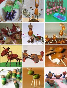 Bastelideen aus Eicheln fürs Basteln mit Kindern Diy And Crafts, Crafts For Kids, Book Week, Autumn Art, Nature Crafts, Creative Kids, Acorn, Kids And Parenting, Fall