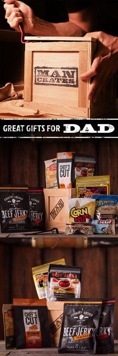 Awesome snacks in a crate for Father's Day!  ManCrates