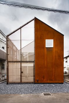 Concept Built in the residential area of Tokyo, ' Transustainable House ' aims to respond to the 4 features of urban housing. 'Small building site' – Extension of perceptional spaces beyond th. Houses Architecture, Architecture Design, Japanese Architecture, Tokyo Architecture, Minimalist Architecture, Architecture Interiors, Exterior Design, Interior And Exterior, Facade Design