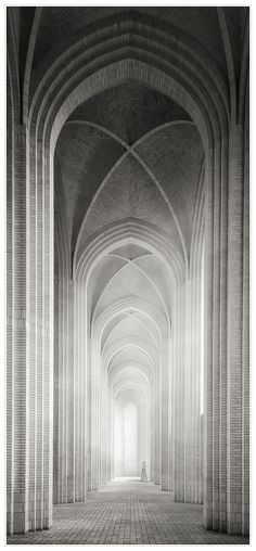 Grundtvigs Kirke in Copenhagen. Why I didn't go and see this whilst there I really don't know! Gothic Architecture, Amazing Architecture, Architecture Details, Model Foto, 3d Models, White Aesthetic, Chapelle, Jolie Photo, Black And White Photography