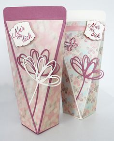 Selbstschließende Box - Verpackung für Duschgel - Stampin up