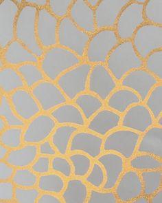 Sample Peel Wallpaper in Rich Gold design by Jill Malek
