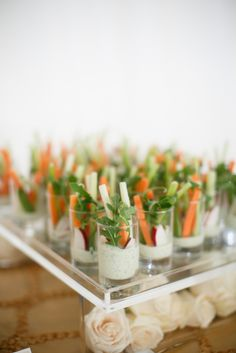Serve crudites in pretty shot glasses