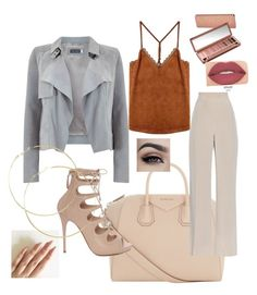 """""""Untitled #3"""" by ivalverdeee ❤ liked on Polyvore featuring Givenchy, Mint Velvet, MaxMara, Alexander McQueen, Urban Decay, Smashbox and thepantsuit"""