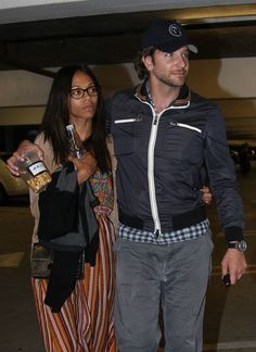 Zoe Saldana and Bradley Cooper Cuddle Up During Movie Date Night