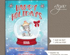 Printable Invitations & Matching Party by Christmas Greeting Cards, Christmas Greetings, Printable Invitations, Printables, Happy A, Etsy Seller, Handmade Gifts, Seasons, Holiday