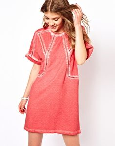 Image 1 ofBy Zoe Jersey Dress with Roll Sleeves