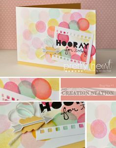 Pretty Heart, Papercraft by Jennifer Frost: Trendy Triangles - Creation Station Blog Hop #1
