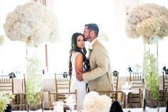 Posy - MMJ Events - Benjamin James Photography - Pinnacle Golf Club white peony wedding - modern wedding - orchids - floral table runner