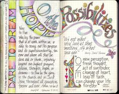visual blessings: N-O-P in Moleskine Journal Pages