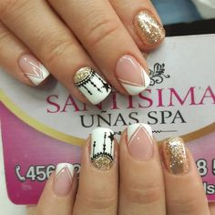 Mani Pedi, Manicure And Pedicure, Gel Nails, Acrylic Nails, Best Nail Art Designs, Fall Nail Designs, Semi Permanente, Nails Design With Rhinestones, Finger