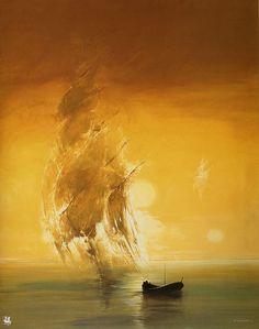 Phantom Sailing Ship by Wojtek Siudmak  This is beautiful.