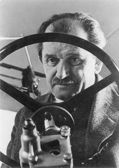 Dr. Ferry Porsche, designer of the Volkswagen and the Porsche automobiles.
