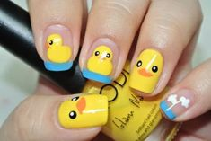 Easter Nail Art Ideas to Try Photos) - Fashion Nail art is a creative way to color, decorate, Nail Art Designs, Easter Nail Designs, Easter Nail Art, Nail Designs Spring, Nails Design, Animal Nail Designs, Christmas Manicure, Christmas Nail Art, Christmas Shirts