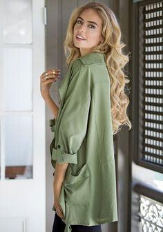 Gorgeous Green Chiffon Blazer