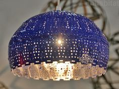 Nadia Belalia's beautiful lamps are made from recycled colanders.
