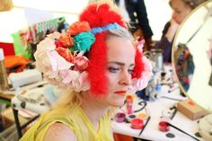 Louise Gray with Meadham Kirchhoff flower head