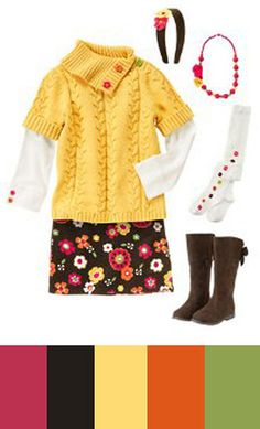 Love this set of fall colors (the outfit is cute too!)