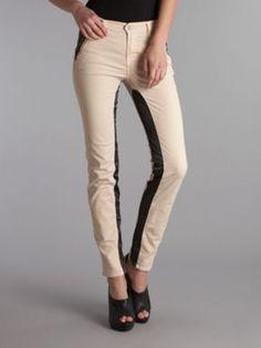 J Brand Nikko panel mid rise skinny leg jeans Cream - House of Fraser #destinationdenim  #jeans #denim #houseoffraser