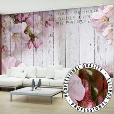 Mural de Pared Foto Wallpaper Fotomural 3D Fotomural Decorativo Vintage Flowers