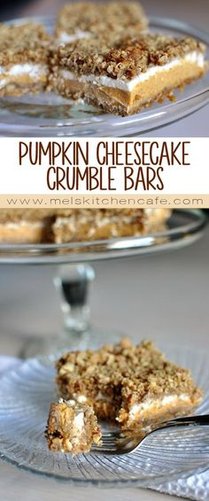 These pumpkin cheesecake crumble bars are worth eating one more pumpkin recipe, even if you are pumpkin'd out. Promise!