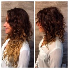 Saying goodbye to summer ends #Lob #Curly #FallHair