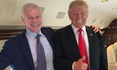Aboard Trump One, Donald loosened his tie and offered classic advice – 'whatever you do . . . '