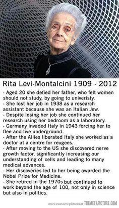 Scientist. Rita Levi Montalcini. Premio Nobel de medicina.