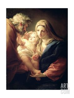 The Holy Family, 1740S Giclee Print by Pompeo Batoni at Art.com