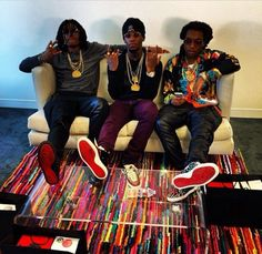 Migos Spotted Wearing Christian Louboutin Sneakers In Los Angeles Louboutin Sneakers, Migos Rapper, Migos Quavo, New School Hip Hop, American Group, Hip Hop And R&b, Beats By Dre, American Rappers, Culture