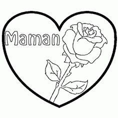 Coloriage Coeur Pour Mamie.449 Images Delicieuses De Coloriage Learn Drawing Easy Drawings