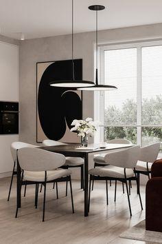 Minimalist Dining Room, Minimalist Interior, Modern Interior Design, Home Room Design, Dining Room Design, House Design, Interior Exterior, Interior Architecture, Inside A House