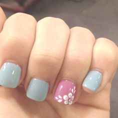 Pretty Nail Designs You Have to Try for this Week Hey, girls! It's time to make a new manicure? Nail Designs 2014, Pretty Nail Designs, Short Nail Designs, Nail Designs Spring, Simple Nail Designs, Spring Design, Awesome Designs, Flower Designs For Nails, Easter Nail Designs