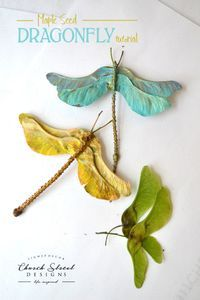 ideas garden crafts to make for kids for 2019 Nature Crafts, Fall Crafts, Christmas Crafts, Arts And Crafts, Theme Nature, Deco Nature, Dragonfly Art, Kids Party Themes, Ideas Party