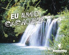 Para quem ama cachoeira!  Foto: Estância Mimosa - Bonito/MS  #euamocachoeira