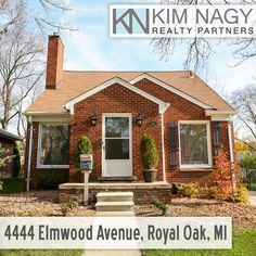 Just Listed | 4444 Elmwood Ave, Royal Oak, MI  Charming brick bungalow on beautiful pride-of-ownership street! 4 bed 2 bath with updated kitchen and bath and fantastic family room addition with doorwall to back deck. Great curb appeal and large entry foyer leads to living room with natural fireplace. Hardwoods under carpet throughout first floor. Walk through light-filled dining room to the surprisingly spacious updated kitchen with dual ovens and abundant cabinet storage and