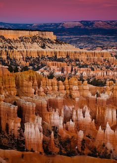 The hoodoos of Bryce Canyon National Park in Utah.