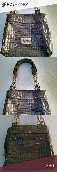 Kathy Van Zeeland Croc Bag Excellent condition! Clean and perfect inside and out.  No odors, etc. Large tote. Lots of pockets inside and out. See second listing for more pictures. Kathy Van Zeeland Bags Totes