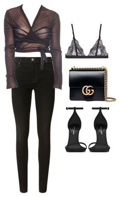 A fashion look from December 2017 featuring J Brand jeans, La Perla bras and Yves Saint Laurent sandals. Browse and shop related looks. Diva Fashion, Fashion Looks, Fashion Outfits, Womens Fashion, Fashion Trends, Casual Summer Outfits, Classy Outfits, Cute Outfits, Outfit Chic