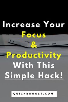 Increase your focus and become more productive using this simple productivity and time management hack! #focus #productivity #timemanagement