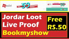 Jordar Loot Live Proof: Bookmyshow Get Rs50 Free Balance only Active Your App bookmyshow offers free bookmyshow Rs. 50 activation bonus Free 50rs Bonus On Bookmyshow  Bonus expire after 14 days from the date of activation. Bonus Credits can be used to purchase any movie event sports plays or experiences on BookMyShow. They cannot be used to purchase Gift Cards. Offer valid for all customers who activate MyWallet between 3rd February and 5th February 23.59 hours. MyWallet INR 50 ACTIVATION…
