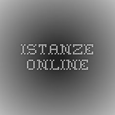 Istanze online