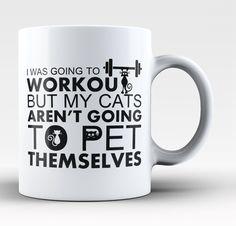 Workout Cats Coffee Mug