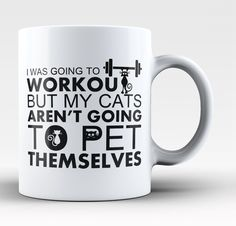 Workout Cats Coffee Mug