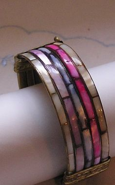 Beautiful Vintage Clamper Bracelet.....MOP...Shell by frenchhen1, #vjse2 #boebot #etsybot2 #vintage #jewelry $15.00