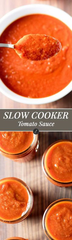 Easy, hands-off slow cooker tomato sauce | girlgonegourmet.com